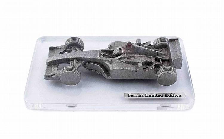 Ferrari rare aluminum Formula one molding