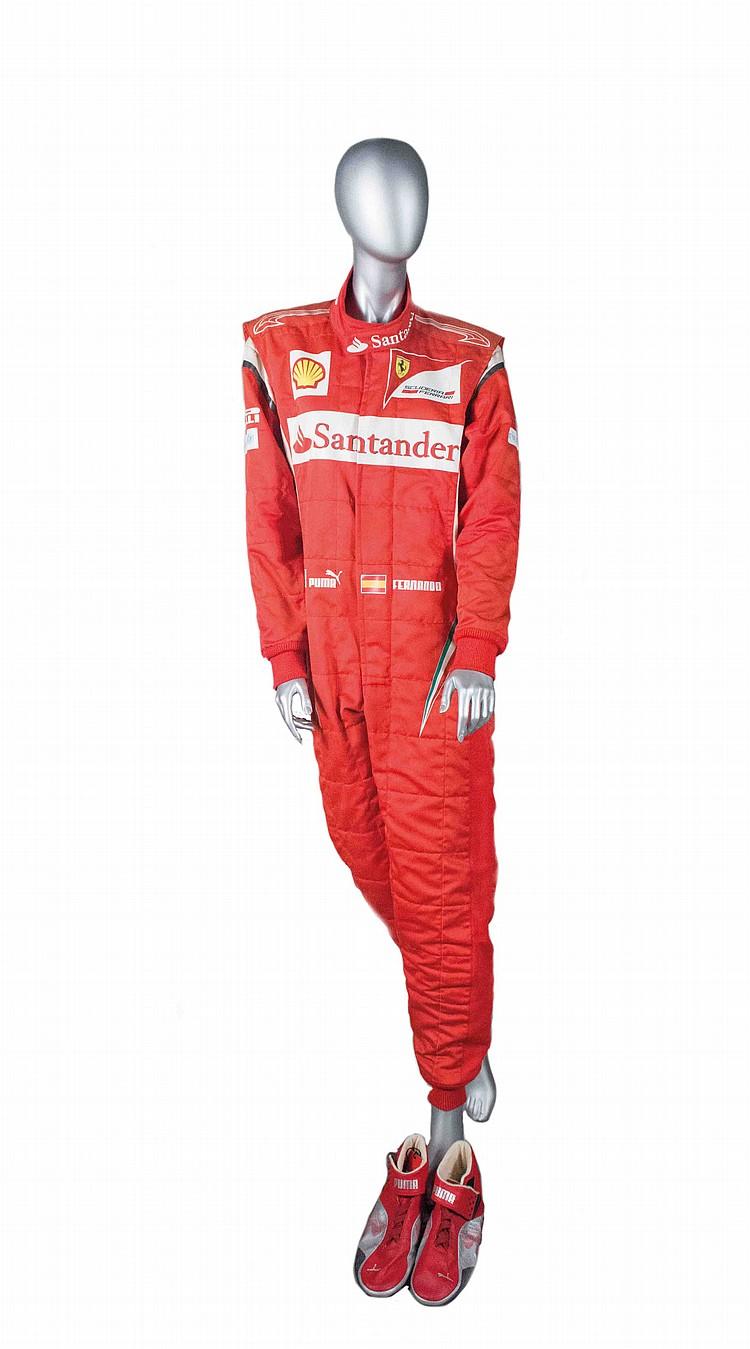 Fernando Alonso's Ferrari overall