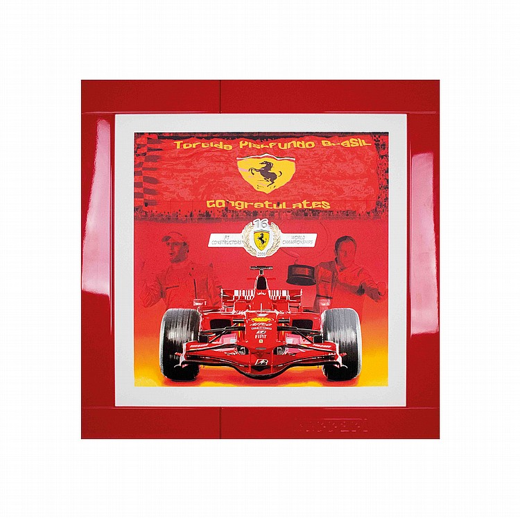 Ferrari lithographs with frame