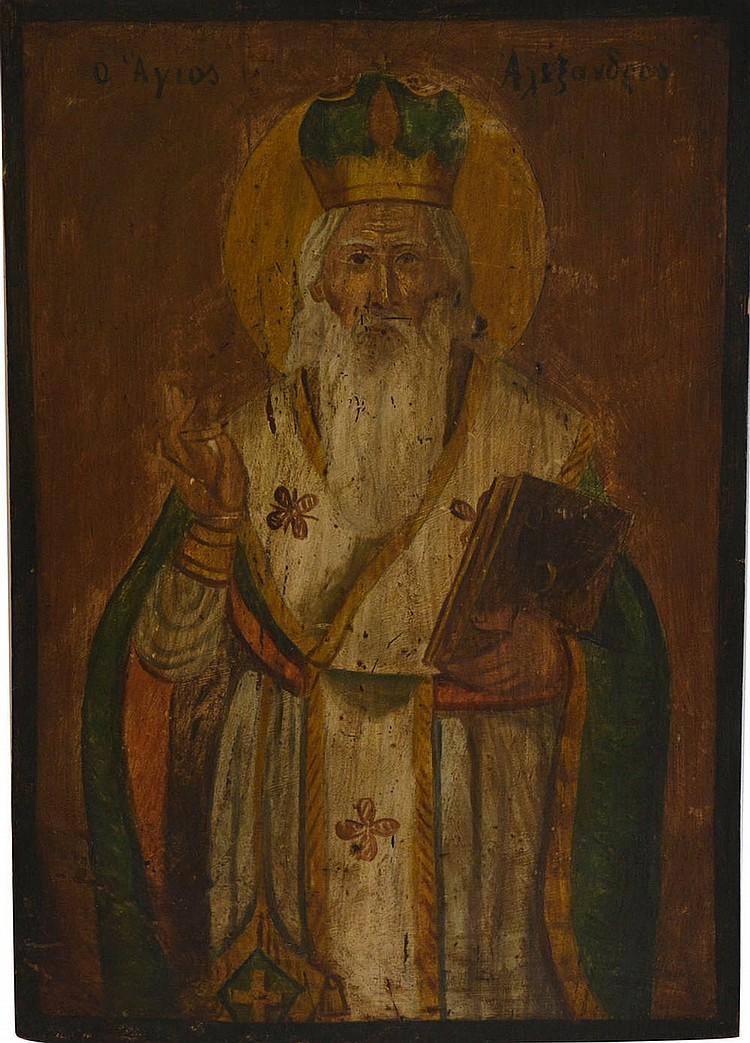 Russian icone of the XVIII century, Saint
