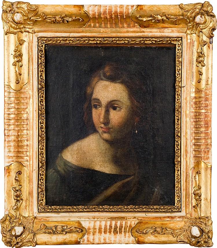 Emilian School of the XVIIth century, Girl's face