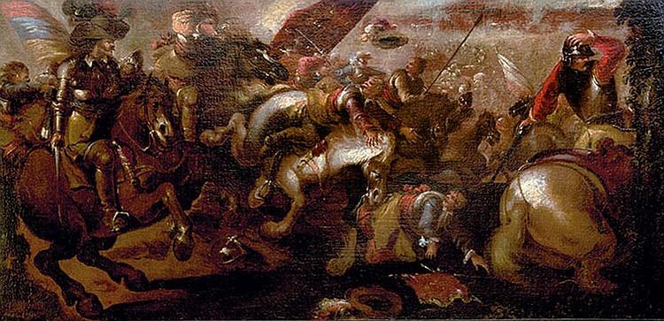 School of Jacques Courtois, il Borgognone (Saint-Hyppolite 1621-1676 Rome) Battle scene
