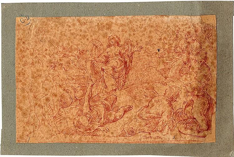 Italian school, 18th century  Study of an angel