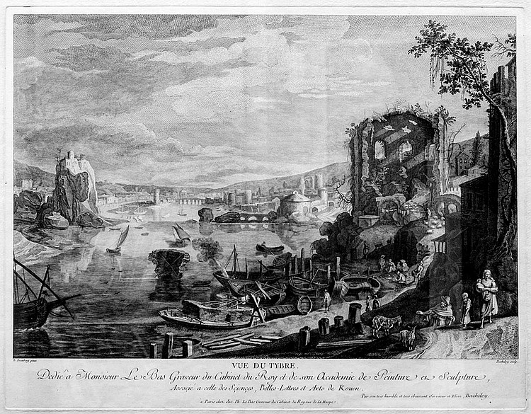 View of the Tiber. Etching from 1759