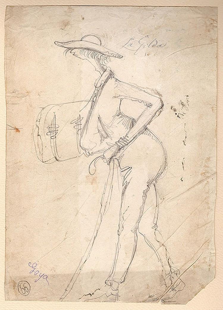 Follower of Francisco Goya (Fuendetodos 1746 - Bordeaux 1828), Gilda