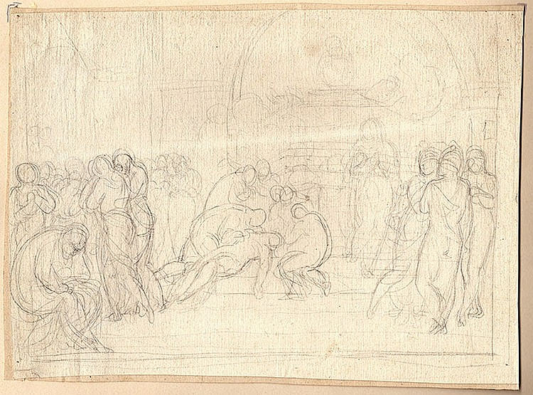 Italian School of the XVIIIth century. Study of the deposition