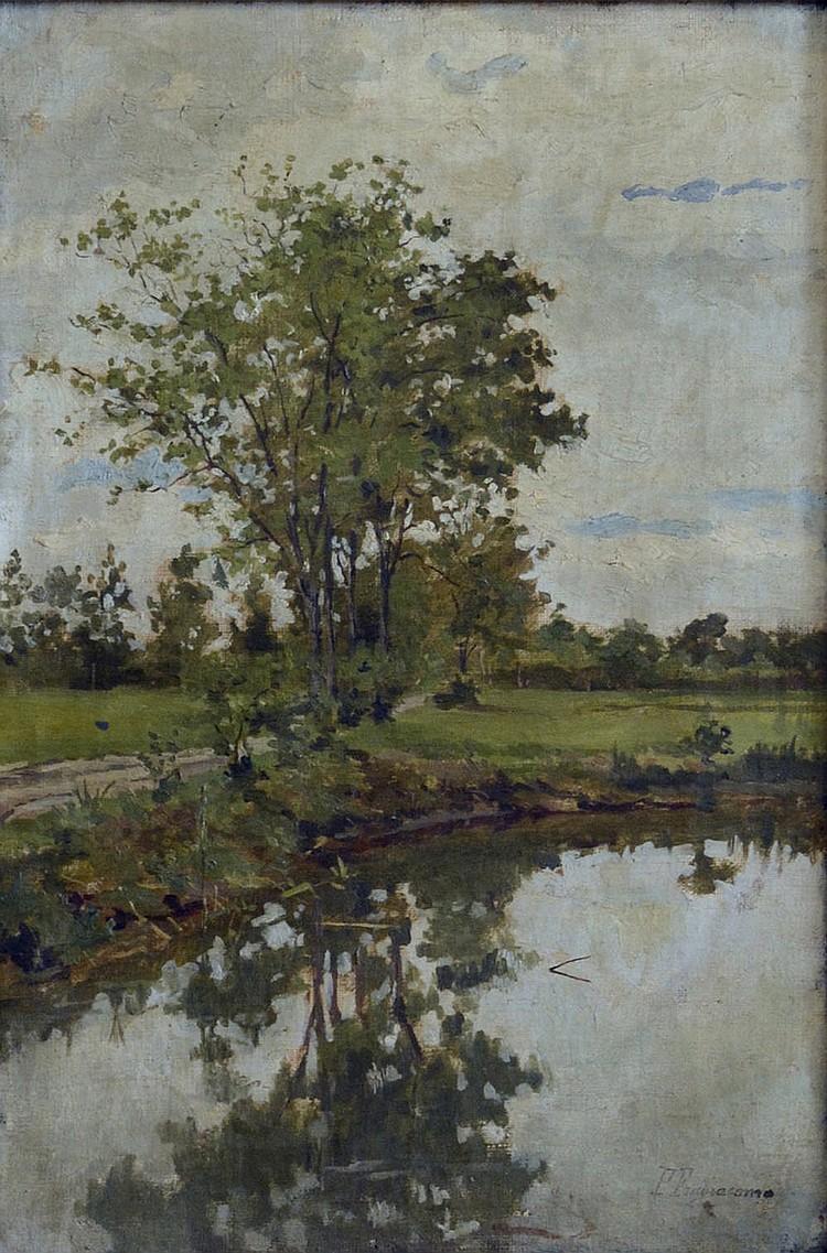 Fragiacomo Pietro, The river Sile, 1880 ca,