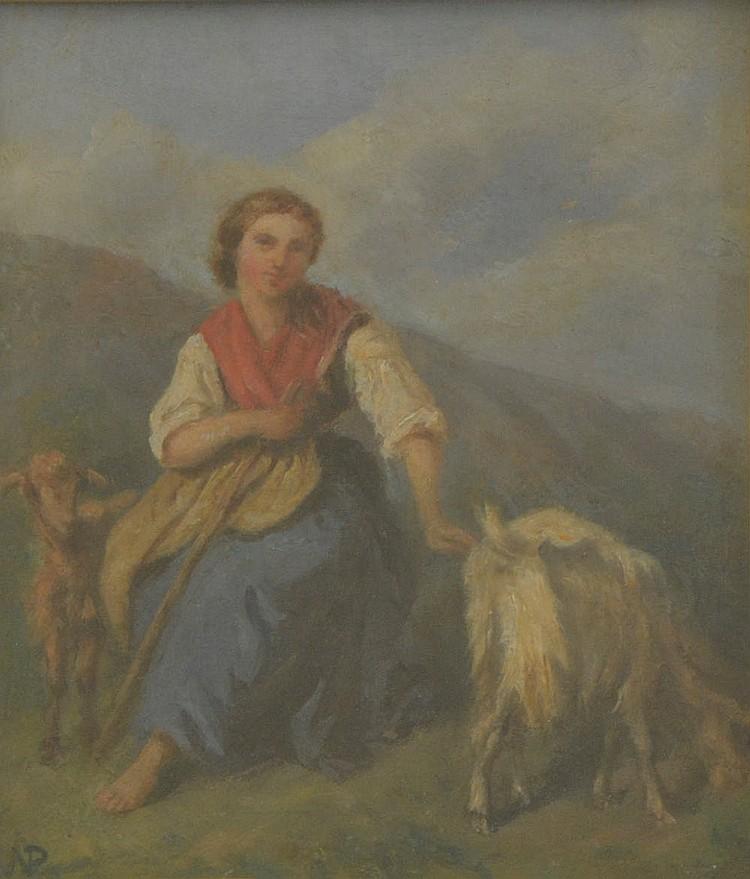 Napoletan School of the XIX century, Shepherdess