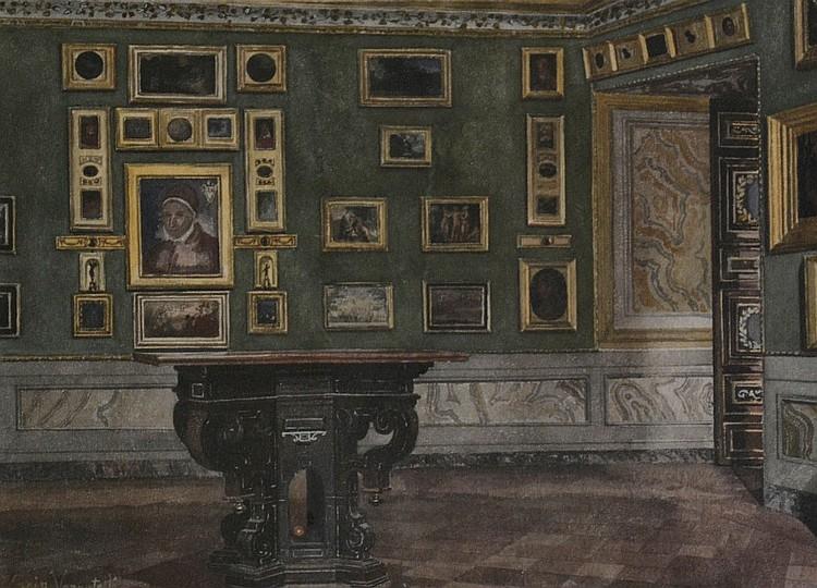 Scipione Vannutelli (1834-1894), Hall, Watercolor