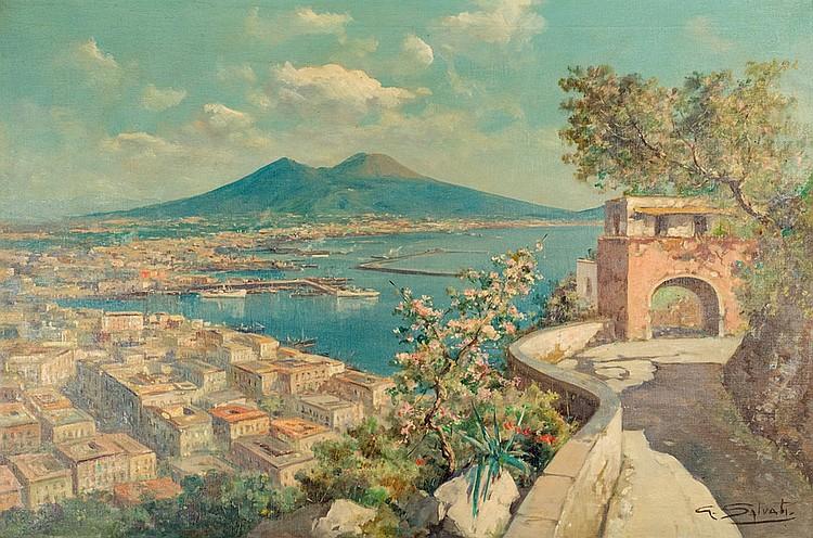 Giuseppe Salvati (Naples 1900 - 1968) Bay of Naples