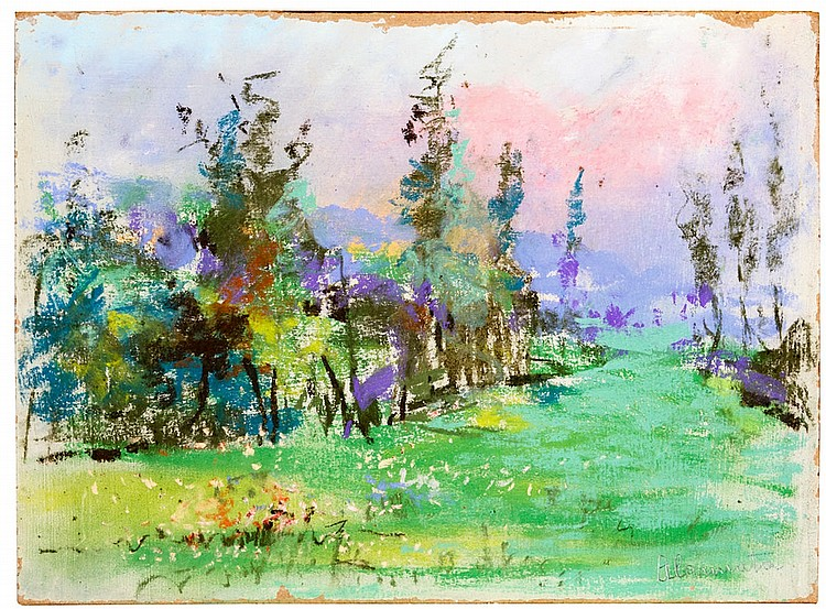 Antonio Cannata (1895-1960) Pair of spring landscapes
