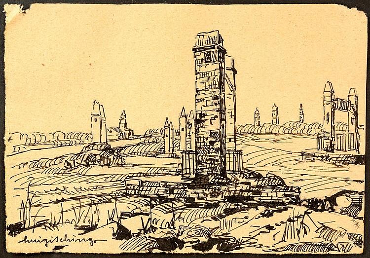 Luigi Schingo (San Severo 1891 - 1976) City landscape,