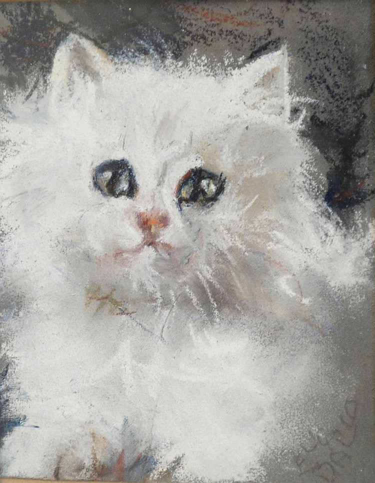 Elica Balla (1914-1993), Four pastels on cardboard