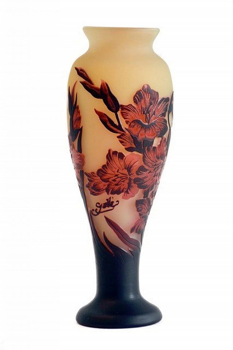 Émile Gallé (Nancy 1846 - 1904) Glass vase