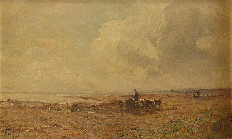 Carlo Follini, Landscape, end of the 19th century