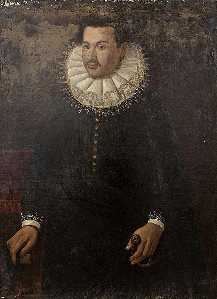 Attributed to Giovanni Ambrogio Figino (Milan 1548-1608)  Portrait of a gentleman
