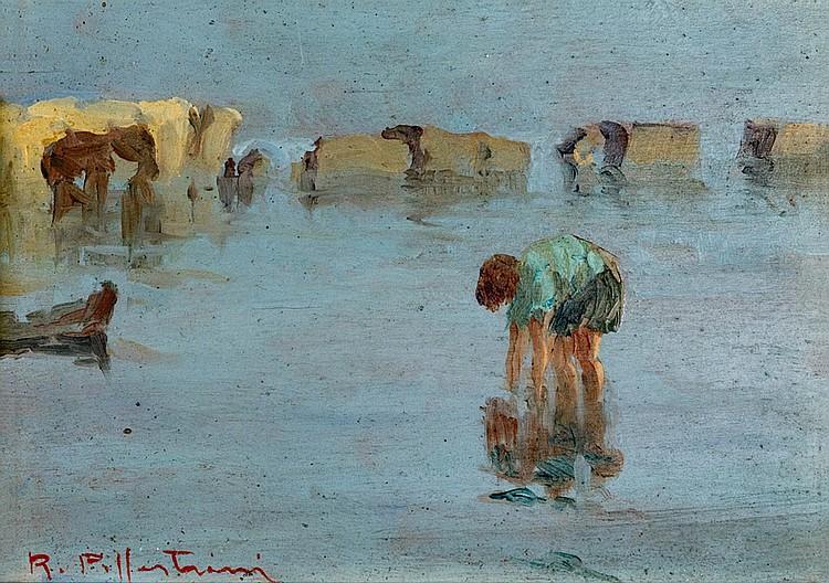 Riccardo Pollastrini (XIX-XX) The Fisherwoman