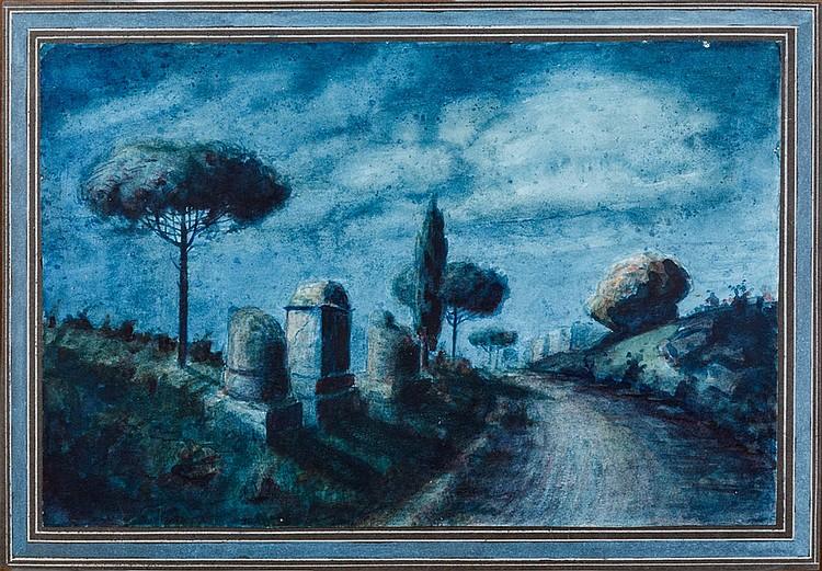 Annibale Brugnoli (Perugia 1843 - 1911) Via Appia