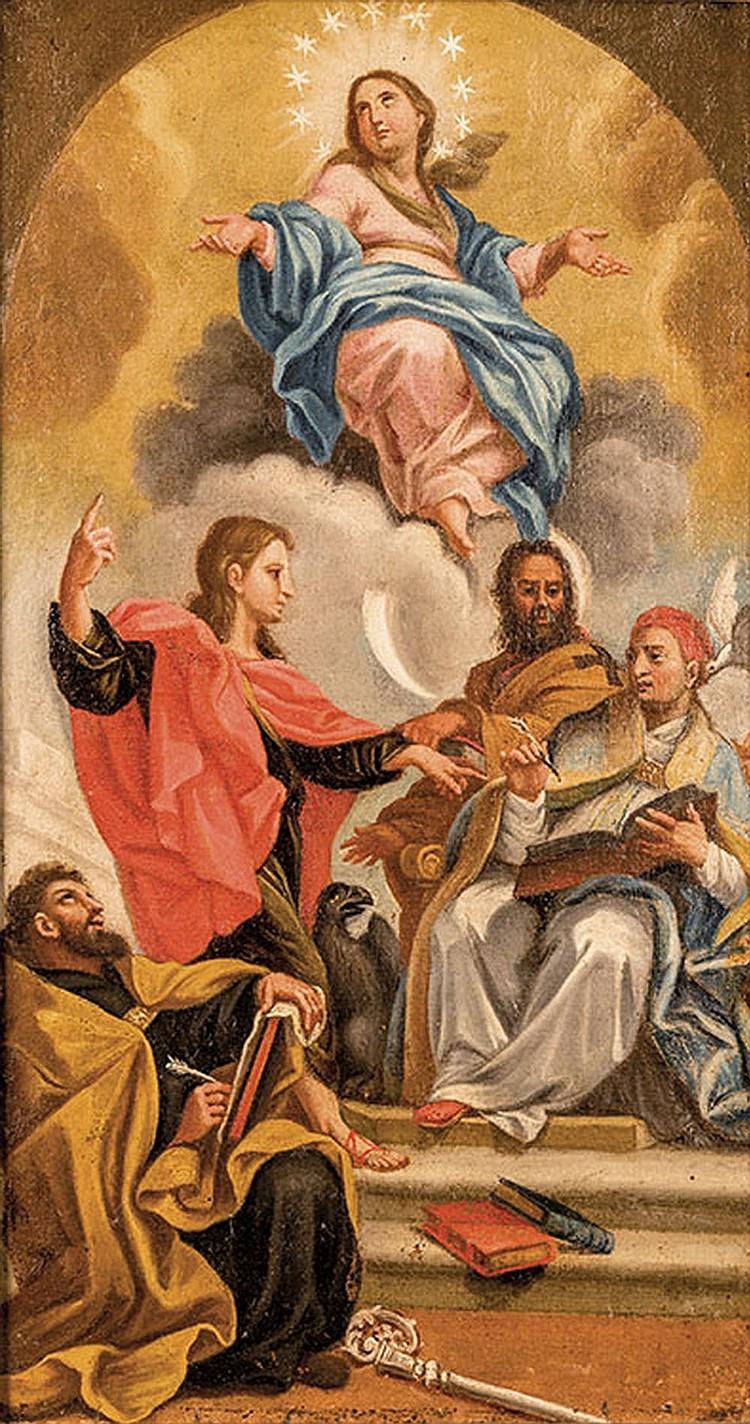 Roman School of the XVIIth century, The Assumption of Virgin Mary