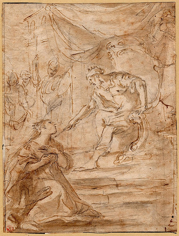 Florentine school, 17th century King Solomon and Queen of Sheba