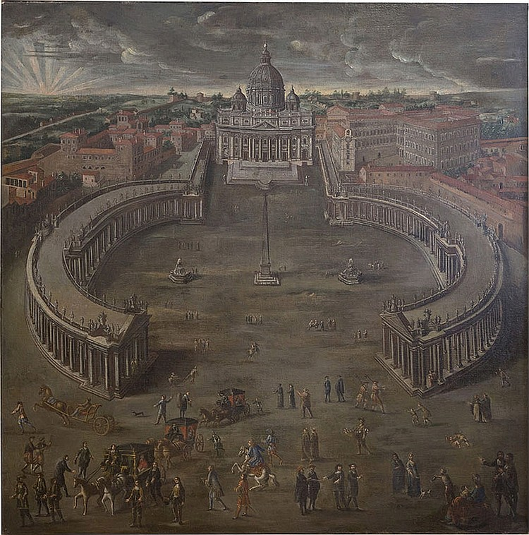 Painter of the end of the XIX century, View of San Peter