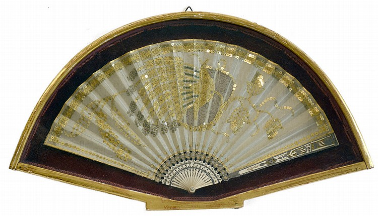 Seven folding fans