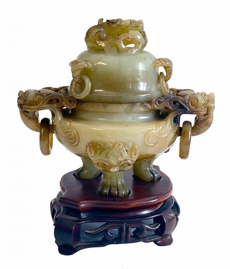 Giade censer, China XX century