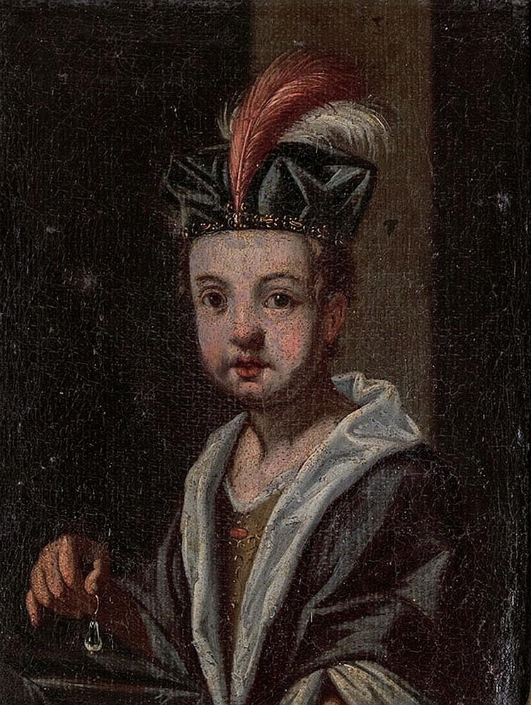 Circle of Antonio Mercurio Amorosi (Ascoli Piceno 1660 - Roma 1788). Portrait of a child