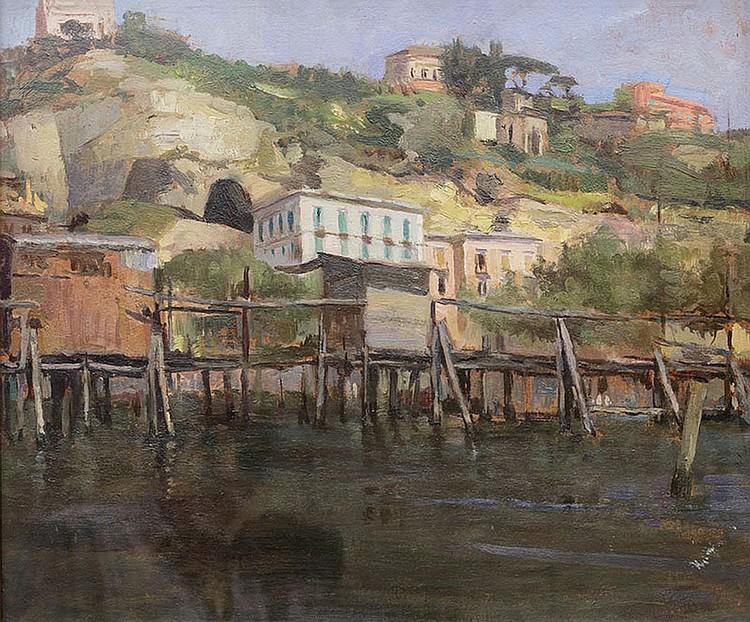 Gaetano Ricchizzi (Napoli 1879 - 1950) Marina
