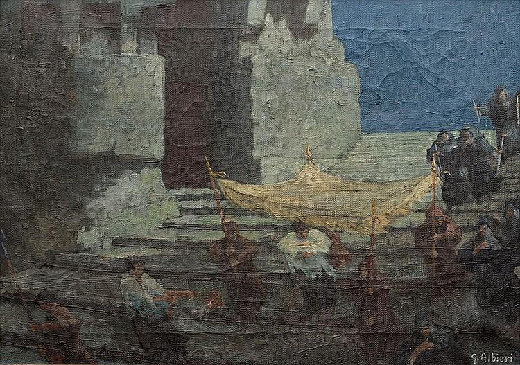 Gino Albieri (Cavarzere, VE 1881 - 1949) Procession