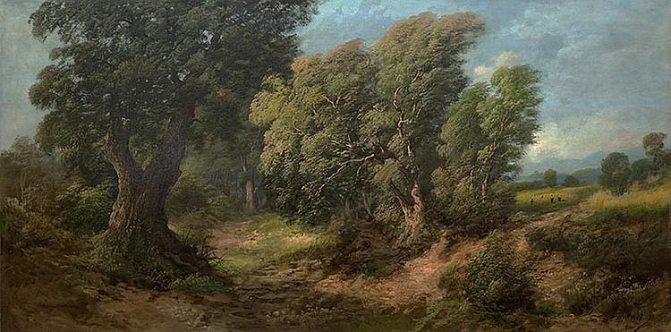 Italian School, XXth century, Rural landscape
