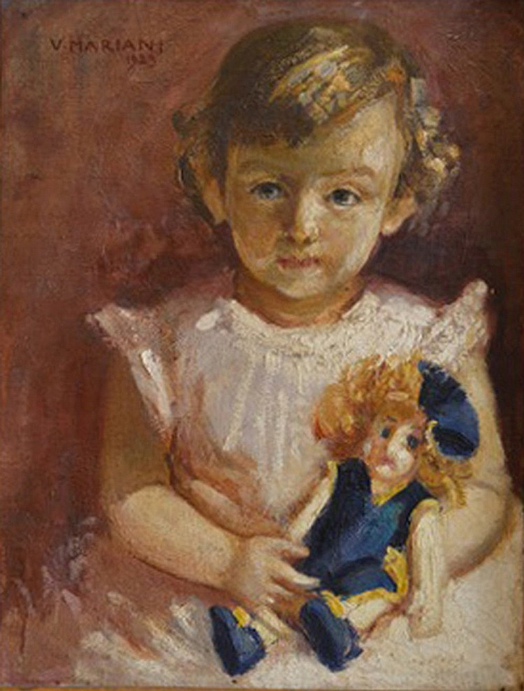 V. Mariani, Girl with a doll