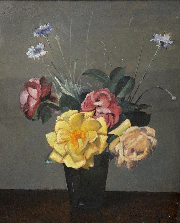 Valentino Ghiglia, Vase of flowers