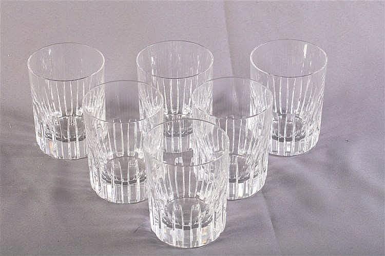 baccarat 6 verres wisky en cristal. Black Bedroom Furniture Sets. Home Design Ideas