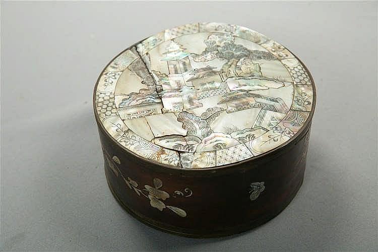 Petite Boite En Bois : petite boite circulaire en bois d cor d 39 une sc ne de palai ~ Dailycaller-alerts.com Idées de Décoration
