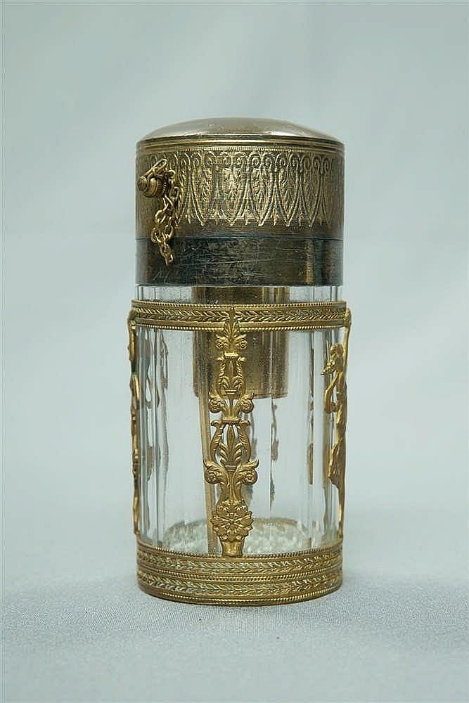 flacon senteur en cristal et bronze dor laiton haut. Black Bedroom Furniture Sets. Home Design Ideas