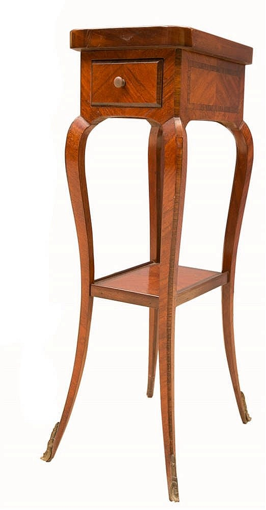 Petite table volante en bois de placage style transition ouv for Petite table ronde bois