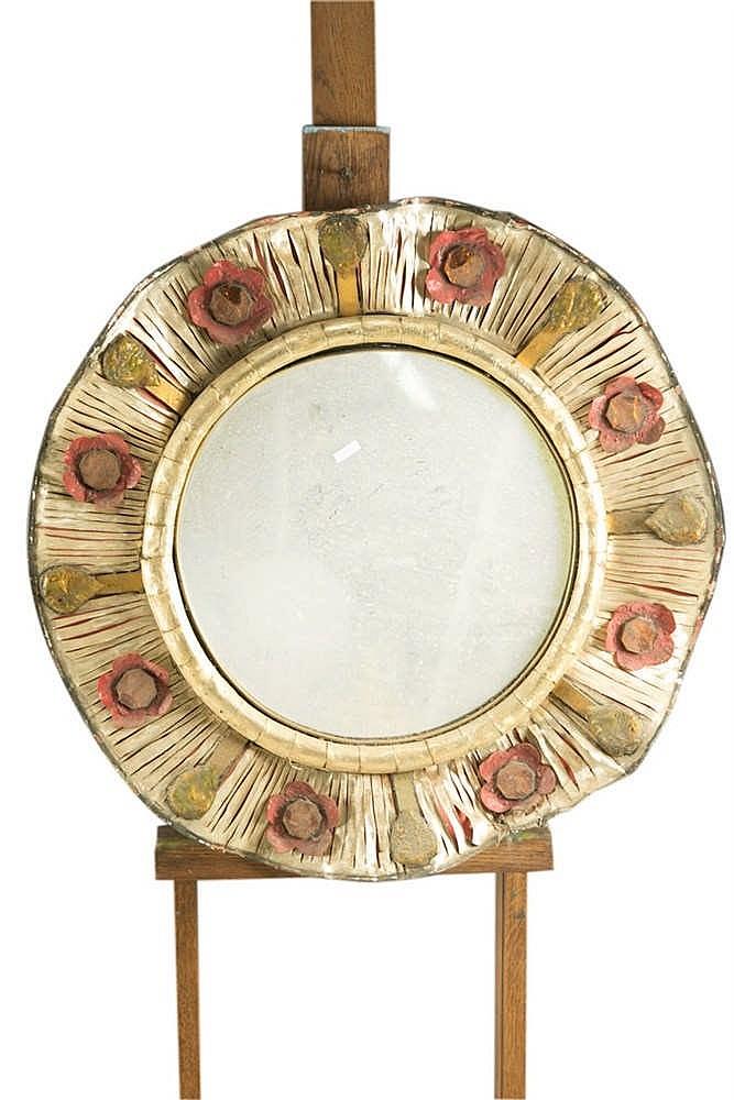 Miroir circulaire bord ondul en composite et verre trava for Miroir circulaire