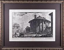 Giovanni Battista PIRANESI (1720-1778). VIEW OF THE TEMPLE OF SIBILLA ON PIAZZA DELLA BOCCA DELLA VERITA.