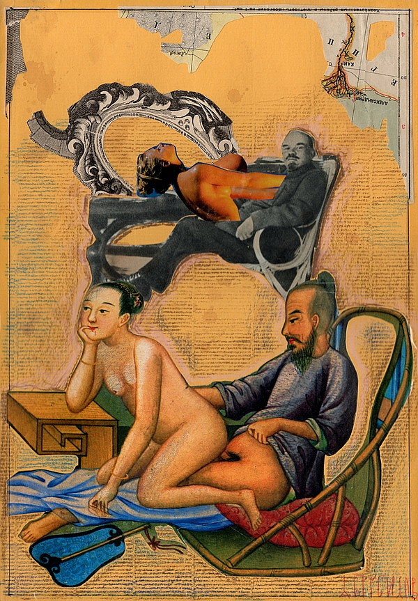 Brusilovsky, A. Collage from the series «China Sexy Party». Beg. of the 2000s.