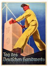 Propaganda Poster Nazi Germany Craft Day Frankfurt
