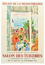 Advertising Poster Salon des Tuileries Art Exhibition Cavailles Flowers Palais de la Mediterranee
