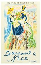 Advertising Poster Nice French Riviera Carnival Cavailles