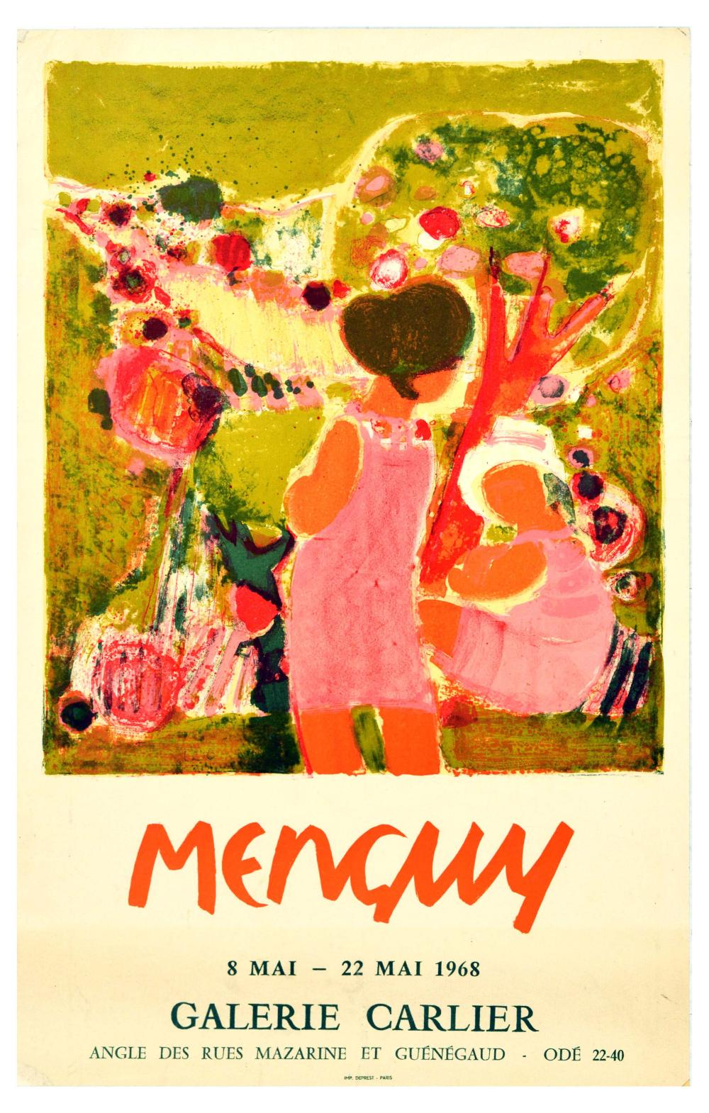 Advertising Poster Menguy Contemporary Art Exhibition