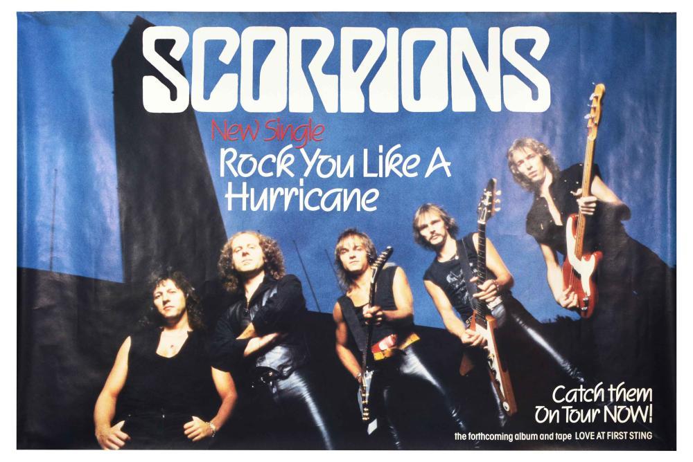 Advertising Poster Scorpions Rock You Like A Hurricane Hard Rock Music