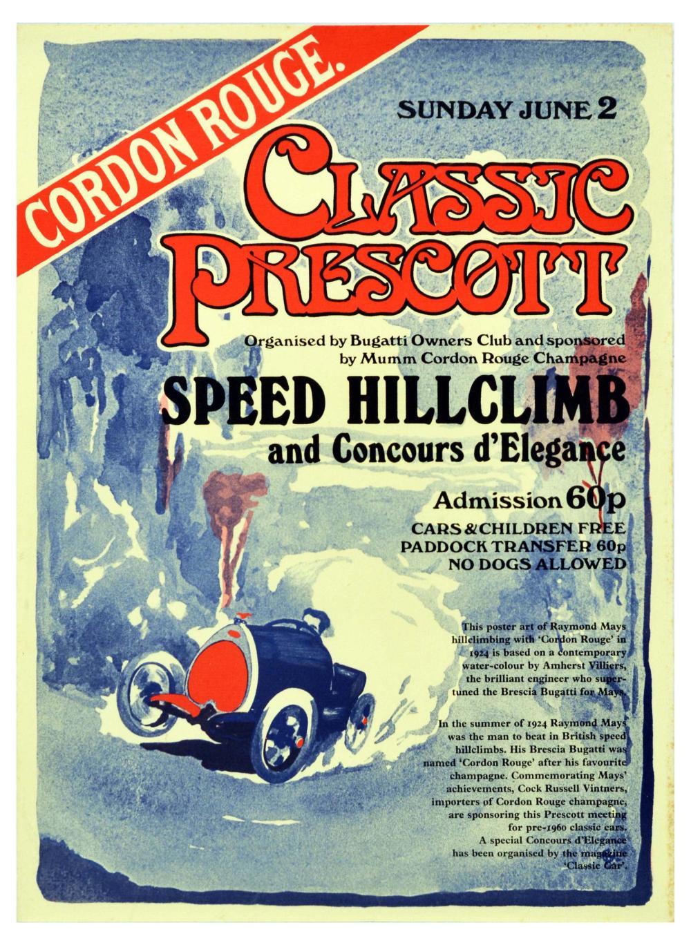 Sport Poster Classic Prescott Cordon Rouge Champagne Bugatti