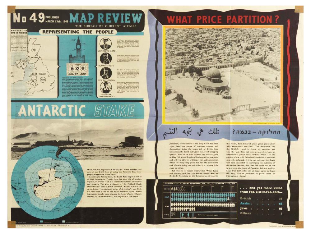 Propaganda Poster Map Review 49 Parliament Antarctic Jerusalem Britains Crisis