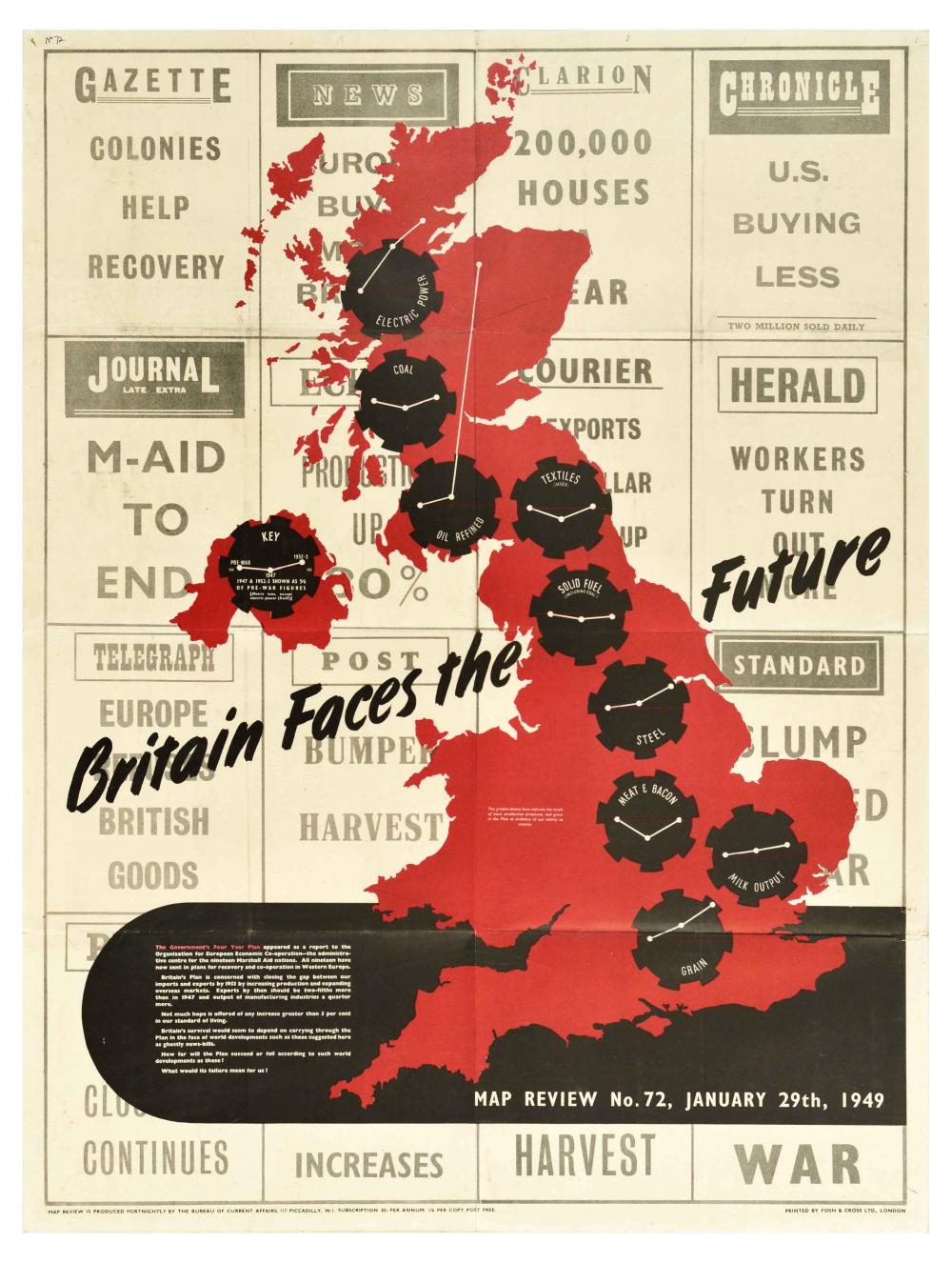 Propaganda Poster Map Review 72 Britain Forces the Future