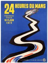 SPORT POSTER 24 HEURES DU MANS 1972 MOTORSPORT CAR RACE