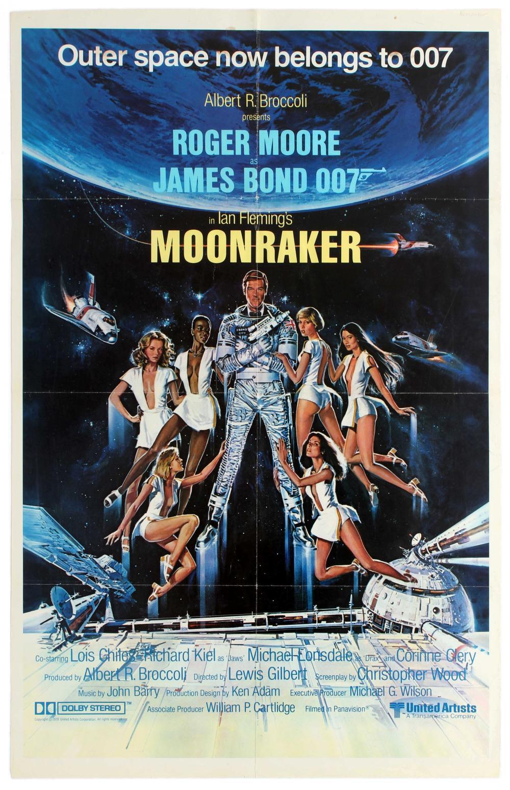 Movie Poster James Bond 007 Moonraker Teaser Roger Moore